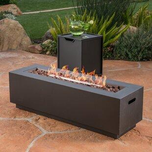 Lefkowski Outdoor Cast Iron Propane Fire Pit Table