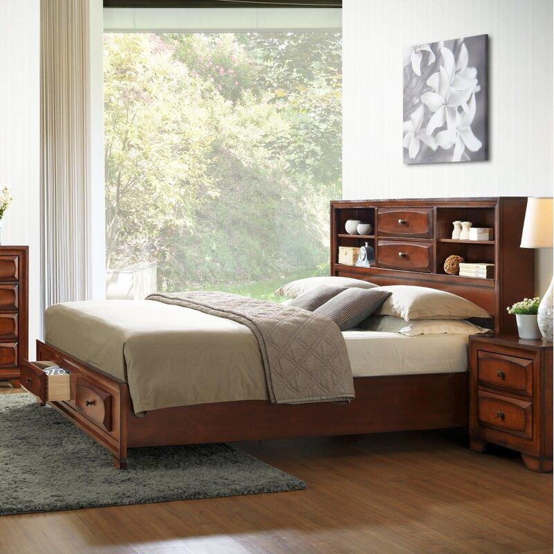 roundhill furniture asger king platform configurable bedroom set | wayfair