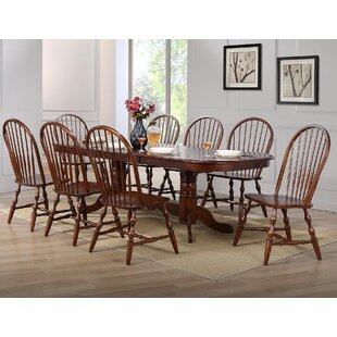 Lockwood 9 Piece Drop Leaf Dining Set