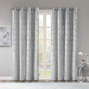 Metallic Silver Curtains
