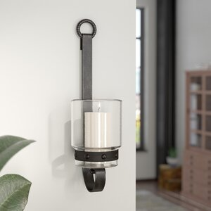 Glass/Metal Sconce