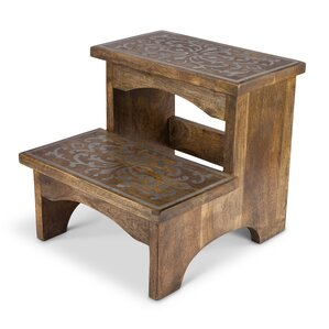 2step wood step stool