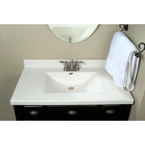 Center Wave Bowl 37 Single Bathroom Vanity Top