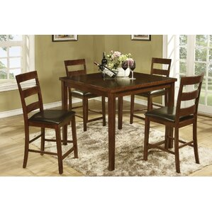 Allenton 5 Piece Counter Height Dining Set by Global Trading Unlimited