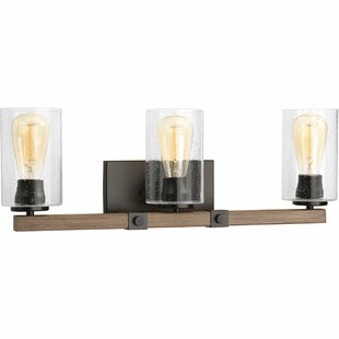 Rustic farmhouse vanity lights youll love wayfair richard 3 light vanity light by union rustic aloadofball Images