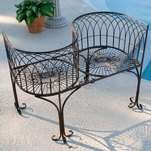 2-Sitzer Stahlgartenbank Garden Division Love Seat von Design Toscano