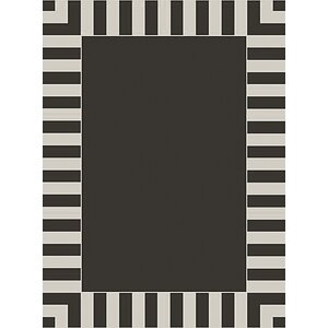 Cabana Stripe Black/White Outdoor Area Rug