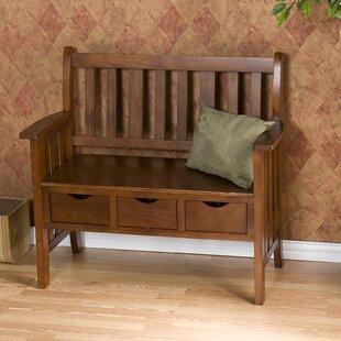 Indoor Wood Bench With Storage   Wayfair