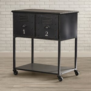 Alastor Rolling Cart Table with 2 Drawers..