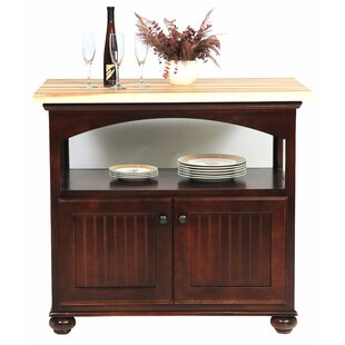 American Premiere Kitchen Island with Butcher Block Top