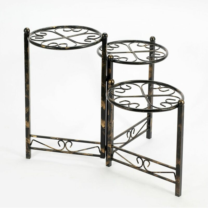 3 Tier Heart Clover Round Plant Stand