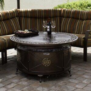 patio fireplace table. Cast Aluminum Fire Pit Tables