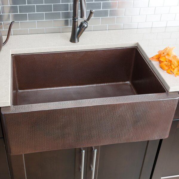 "Hahn Copper Farmhouse Extra Large Kitchen Sink: Hahn 33"" X 22"" Single Farmhouse Kitchen Sink"