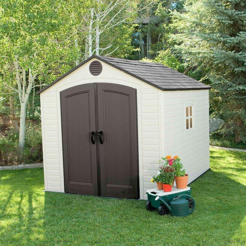 D Plastic Traditional Storage Shed
