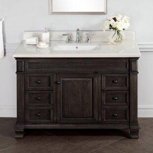 ... Virtu USA MD-423 - Gloria 48 Double Sink Bathroom Vanity - Grey Finish  ...