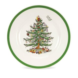 christmas tree 8 salad plate set of 4