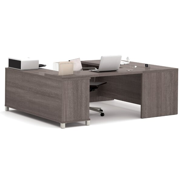 Mercury Row Ariana 3 Piece U Shape Desk Office Suite