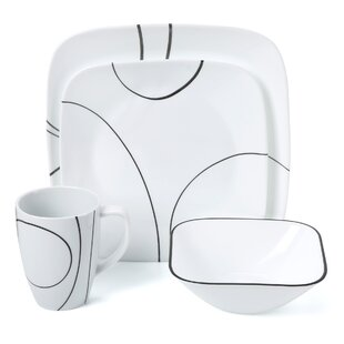Simple Lines 16 Piece Dinnerware Set Service for 4. by Corelle  sc 1 st  Wayfair & Corelle Dinnerware Sets Youu0027ll Love | Wayfair
