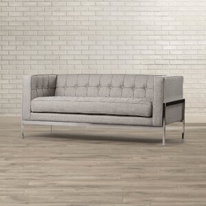 Brayden Studio Bandy Chesterfield Loveseat Image