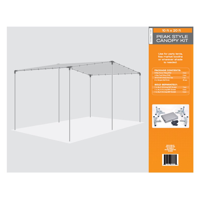 """AHC Heavy Duty Carport Canopy Roof  Size: 240"""" H x 120"""" W x 8"""" D"""