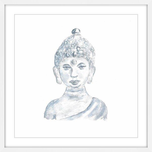 Buddha Statue\' by Thimble Sparrow Framed Painting Print | Joss & Main