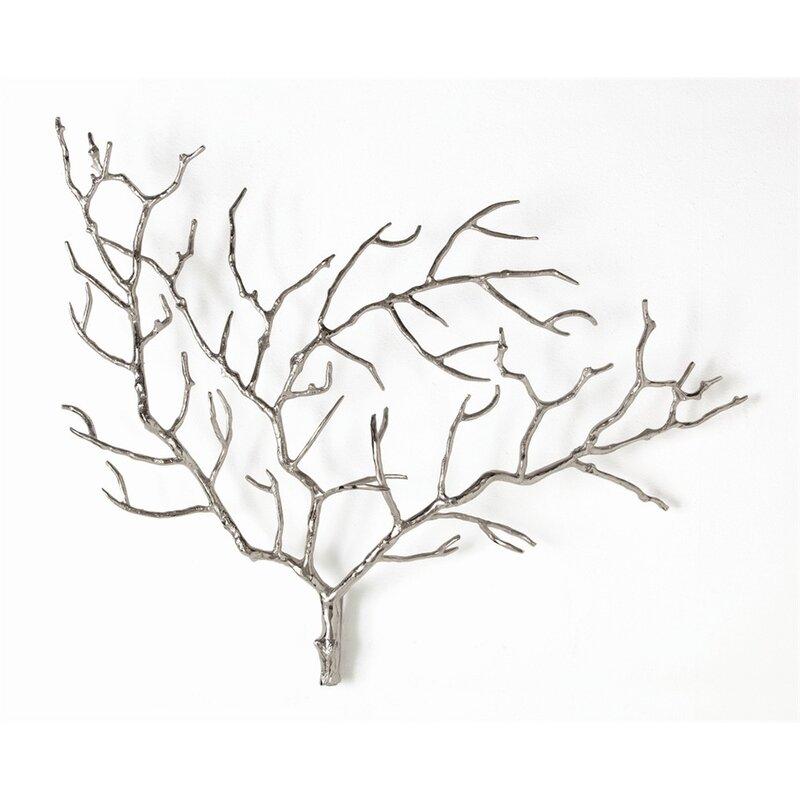 Tree Branch Wall Decor arteriors home metal tree branch wall décor & reviews | wayfair