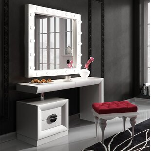 Makeup vanity with lights wayfair kirkwood bedroom makeup vanity set with mirror aloadofball Gallery