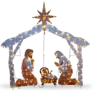 crystal nativity christmas decoration - Nativity Outdoor Christmas Decorations