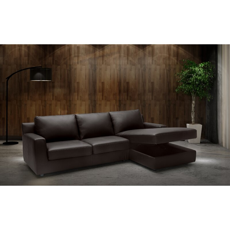 Blandon Leather Sleeper Sectional