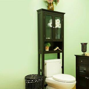 Wooden Storage 24  W x 68.26  H Over the Toilet Storage & Wood Walnut Bathroom Storage   Wayfair