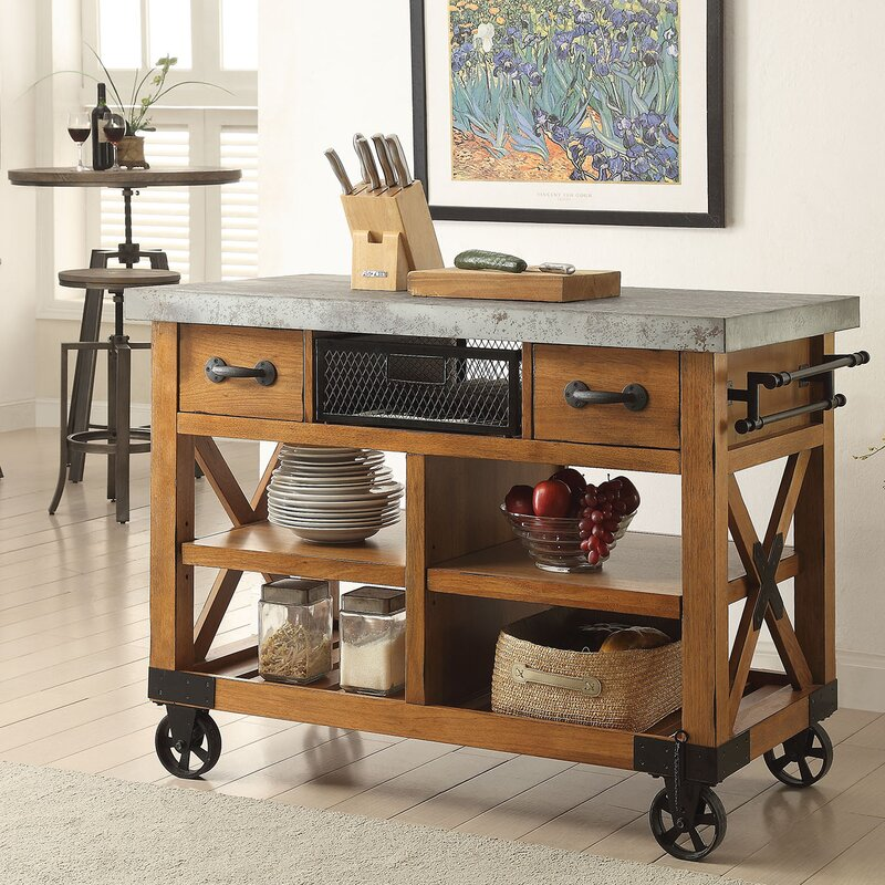kitchen cart. Kailey Kitchen Cart ACME Furniture  Reviews Wayfair
