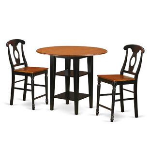 Tyshawn Counter Height 3 Piece Pub Table Set 2019 Sale