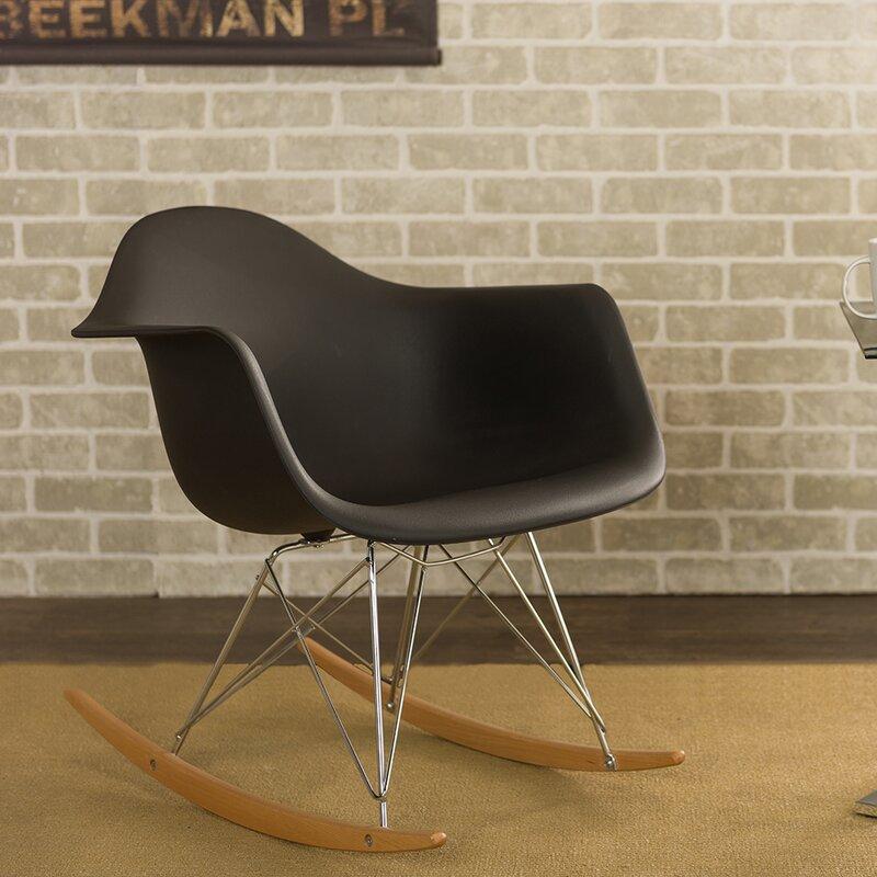 Superb Baxton Studio Charlie Rocking Chair In Red