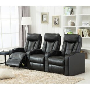 Priscilla Gel Reclining Leather Home Theater Sofa