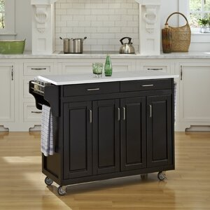 Regiene Kitchen Cart with Quartz Top