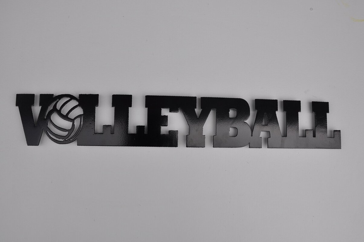Metal word signs wayfair metal volleyball word wall dcor amipublicfo Gallery