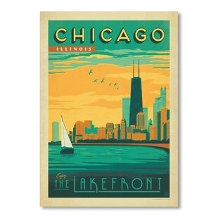 Chicago Lakefront Vintage Advertisement