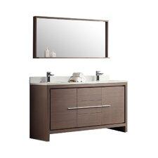 Bathroom Vanities Double modern double bathroom vanities | allmodern