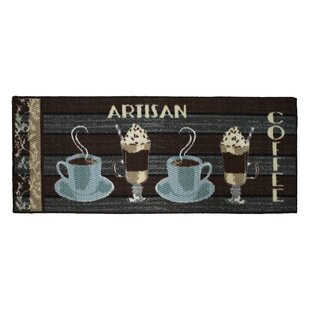 Merveilleux Textured Loop Artisan Coffee Kitchen Area Rug