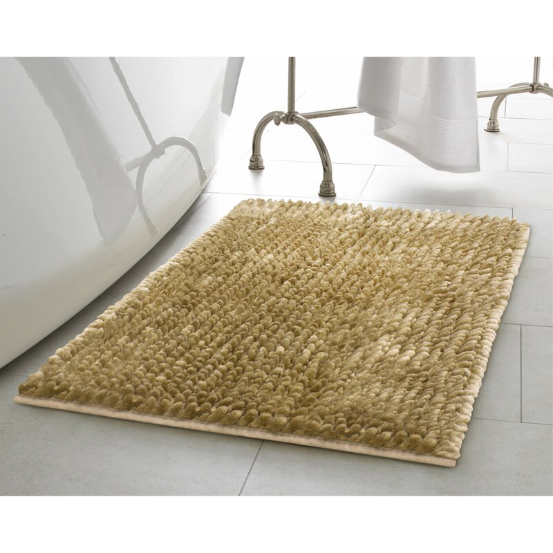 Laura Ashley Home Piece Butter Chenille Bath Rug Set Reviews - Chenille bath rug for bathroom decorating ideas
