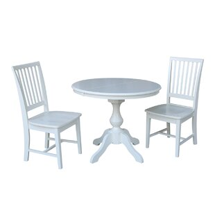 Petties 3 Piece Extendable Solid Wood Dining Set