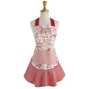 vintage christmas ruffle apron - Christmas Apron