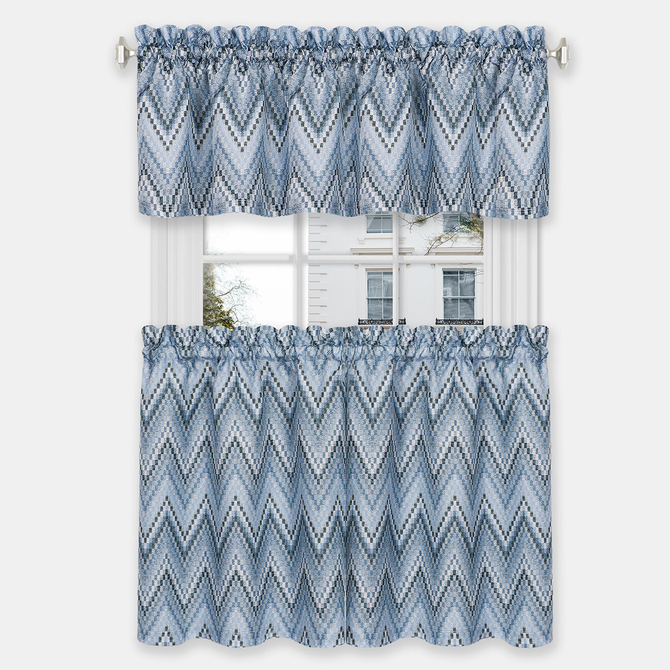 Soft Smooth Light Ice Blue Chenille Like Linen Effect Sofas Curtains New Fabric