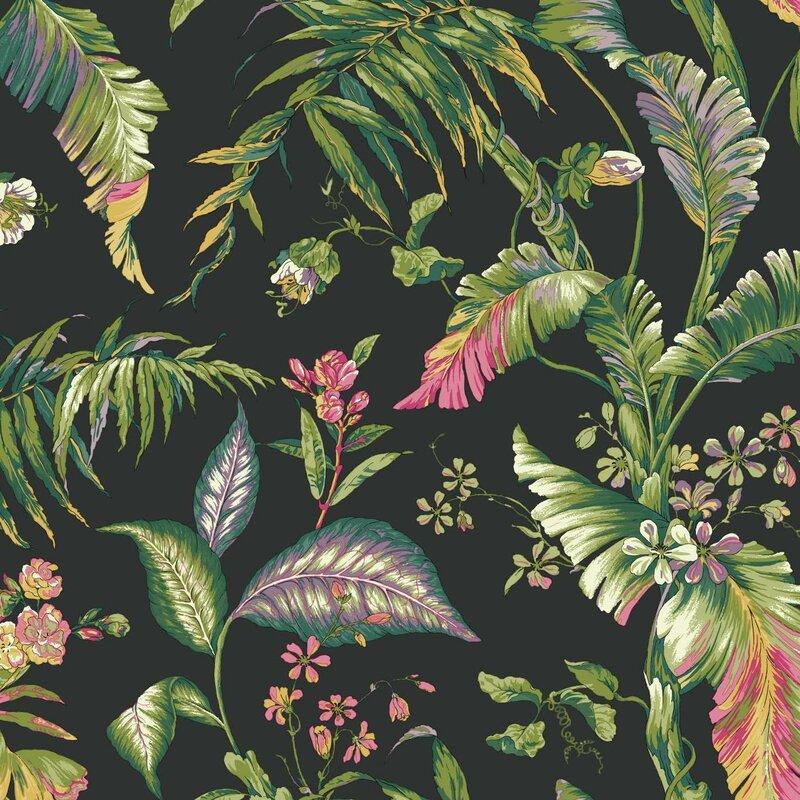 "Ashford Tropics Fiji Garden 27' x 27"" Floral and Botanical Wallpaper Roll"