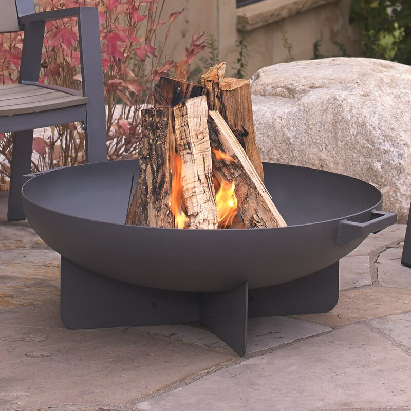 Real Flame Anson Steel Wood Burning Fire Pit amp Reviews