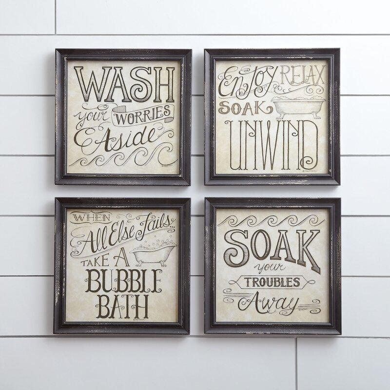 Birch Lane™ Bath Time Wall Framed Print & Reviews | Wayfair