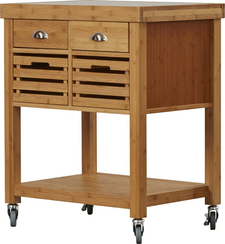 Exceptionnel Beartown Kitchen Cart With Stainless Steel Top