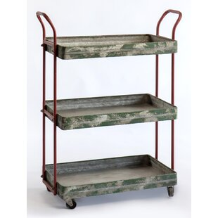 3 tier cart with wheels modern utility maize tier rolling bar cart with wheels wayfair