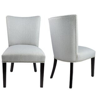 Sydny Concave Back Upholstered Parsons Chair (Set of 2)