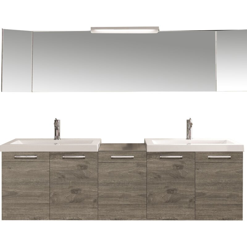 69 Double Modern Bathroom Vanity Set